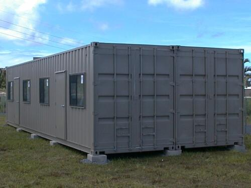Plain 40 x 16 Container Classroom