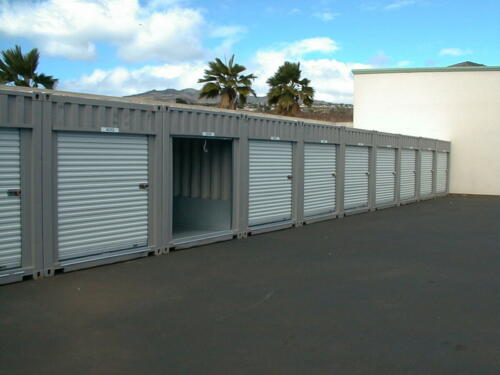 Multiple 20' Mini Storage Units